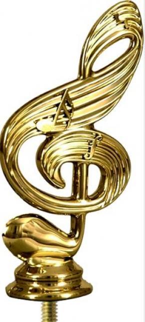 МУЗЫКА (скрип. ключ)  фигурка пластиковая