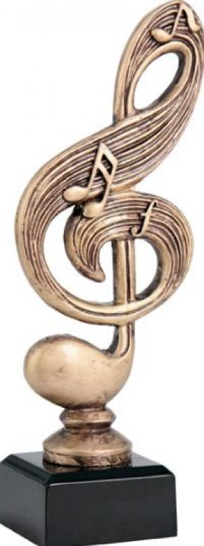 МУЗЫКА (скрип. ключ)  RTY3859  фигура литая