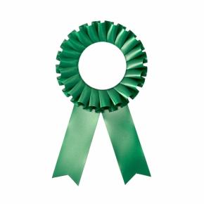 Розетка наградная зелёная